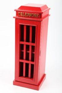 CD Aufbewahrungssysteme | CD Schrank mit Tür | 2 x Fächer |Rot