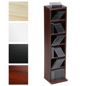 CD Regal Schwarz | CD Aufbewahrungssysteme |CD-Regal mit Platz für 102 CDs    | in Schwarz, Weiß, Ahorn oder Mocca