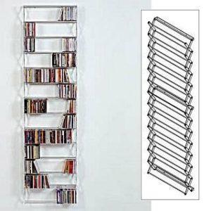 Stretch CD Regal für Wandmontage | Bestückt mit CDs | Gestell separat