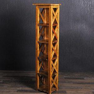 CD Ständer Holz | CD Regal Holz | 5 x Fächer |Rustic Grey (natural geölt mit leichtem Grau-Stich)